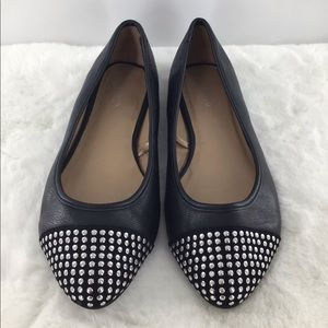 Torrid Black Studded Flats Excellent Condition 12W
